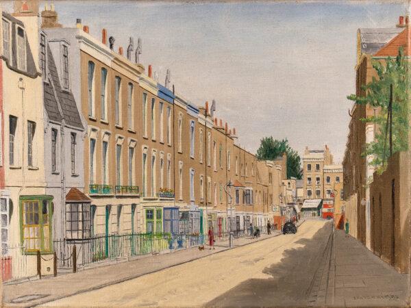 THOMAS David (Mid 20th century) - Kensington: Campden Street looking down towards Church Street.
