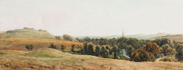 THORNE-WAITE Robert (1842-1935) - Salisbury 'Old Sarum / New Sarum'.