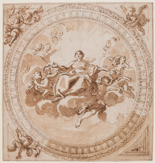 THORNHILL Sir James (1675-1735) (Circle of) - The Virgin in Majesty.