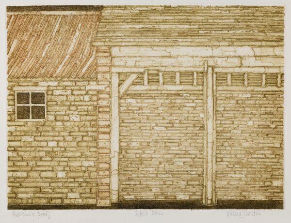 THORNTON Valerie (1931-1991) - 'Suffolk Barns'.