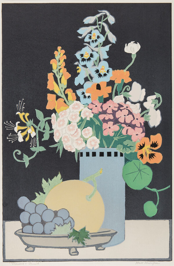 HALL THORPE John (1874-1947) - 'Flowers and Fruit'.