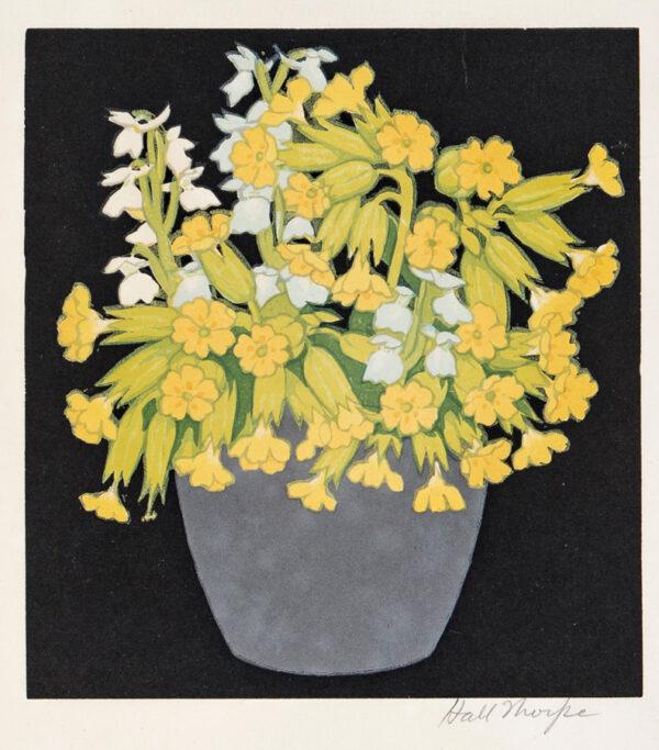 THORPE John Hall (1874-1947) - Primroses.