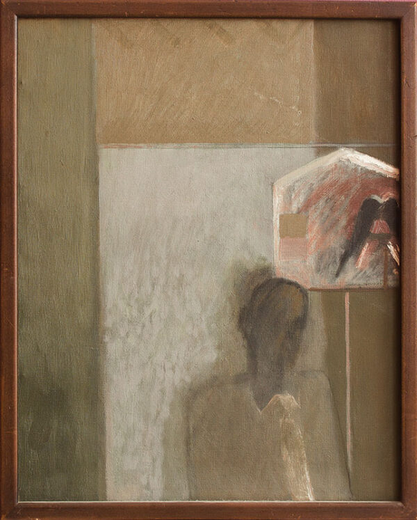 TINDLE David R.A. (b.1932) - Interior with Figure.