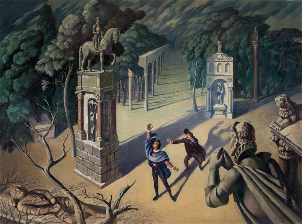 TODD Cecil (Fl.1930's-40's) - 'Commedia dell'Arte' Oil on canvas.