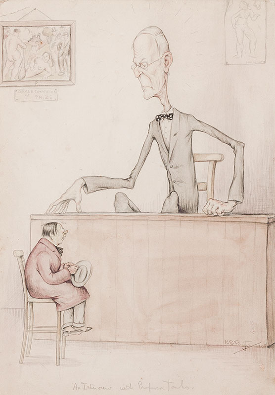 TONKS Professor Henry (1862-1937) (Subject) by 'R. B. Payton' - 'An Interview with Professor Tonks' for the Slade.