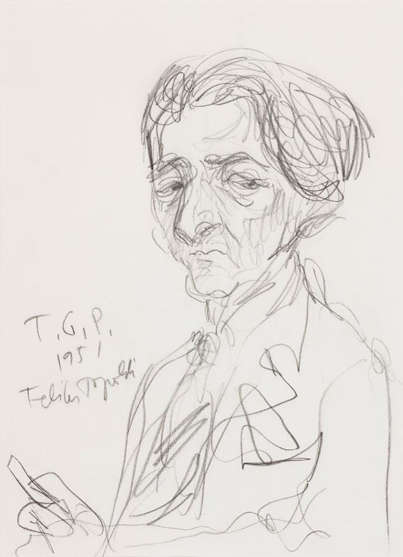 TOPOLSKI Feliks R.A. (1907-1989) - 'Ronald Duncan' (1914-1982), the Writer, Poet and Librettist.
