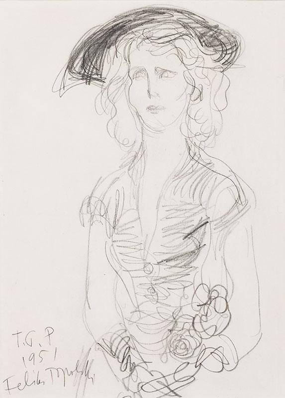 TOPOLSKI Feliks R.A. (1907-1989) - 'Rose Marie Duncan', wife of the Poet, Writer and Librettist Ronald Duncan.