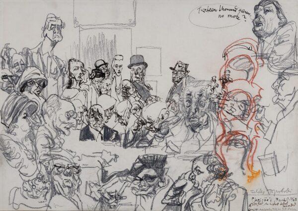 TOPOLSKI Feliks R.A. (1907-1989) - 'Thirteen thousand guineas, no more?', Christies, March 17th, 1960.