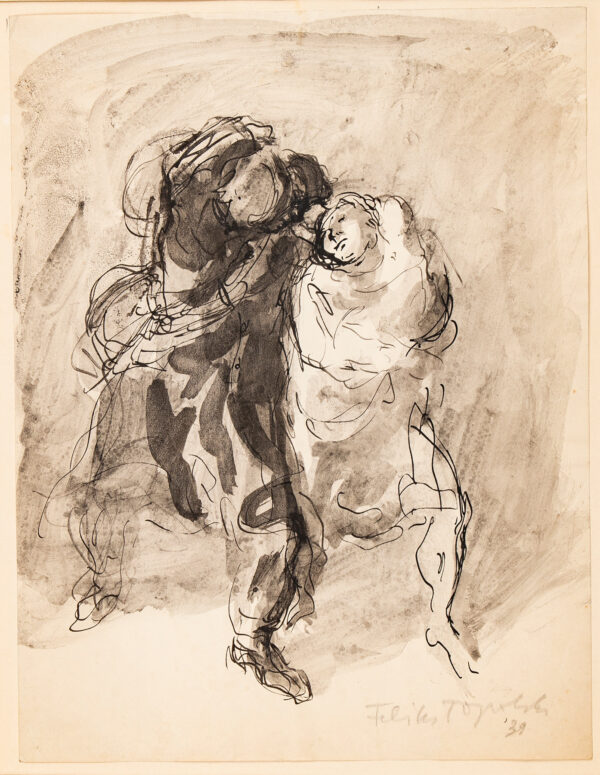 TOPOLSKI Feliks R.A. (1907-1989) - 'The Sailor's Return'.