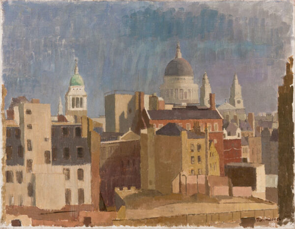 TOWNSEND William (1909-1973) - St Pauls from the North-West after the War.