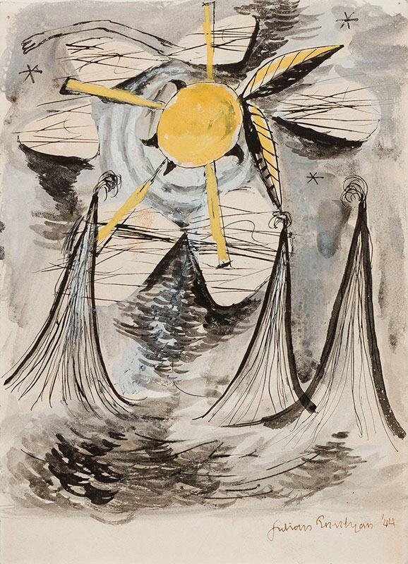 TREVELYAN Julian R.A. R.E. (1910-1988) - 'Icarus'.