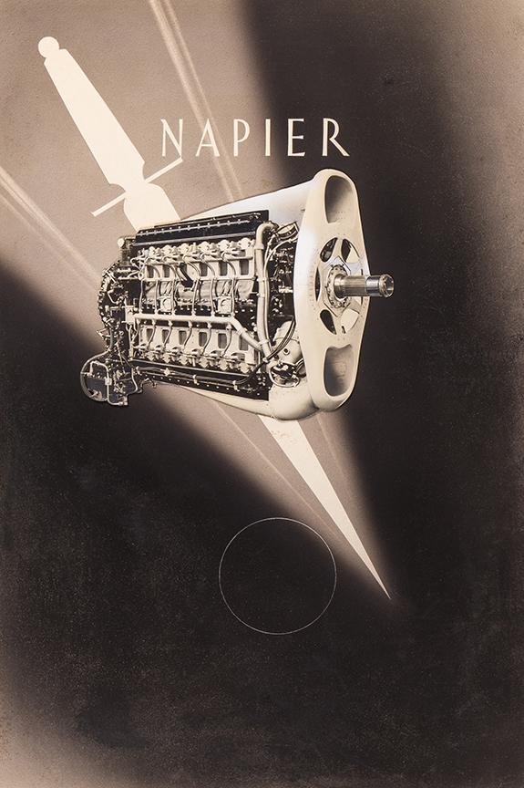 TREVITHICK William Edward (1899-1958) - 'Napier Castrol': design for motor oil advertisement.