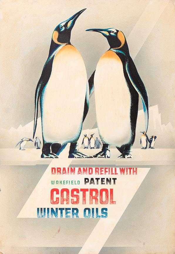 TREVITHICK William Edward (1899-1958) - 'Design for Winter Oils' advertisement.