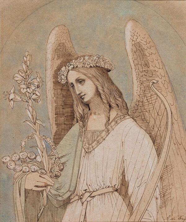 TRIQUETI Baron Henri-Joseph-Francois de (1803-1874) - A Memorial Angel.