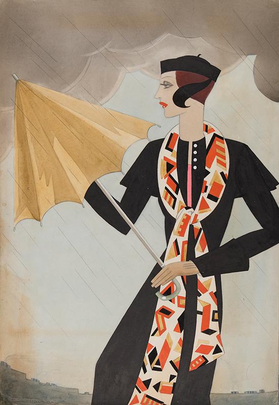 TRUMAN Edna (fl.1930s) - Art Deco fashion illustration.