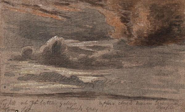 TUDOR Thomas (1785-1885) - Cloud study.