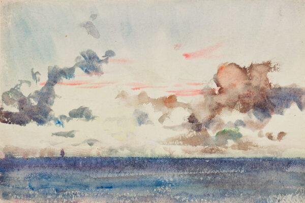 TUKE Henry Scott R.A. R.W.S. (1858-1929) - Dawn at Sea.