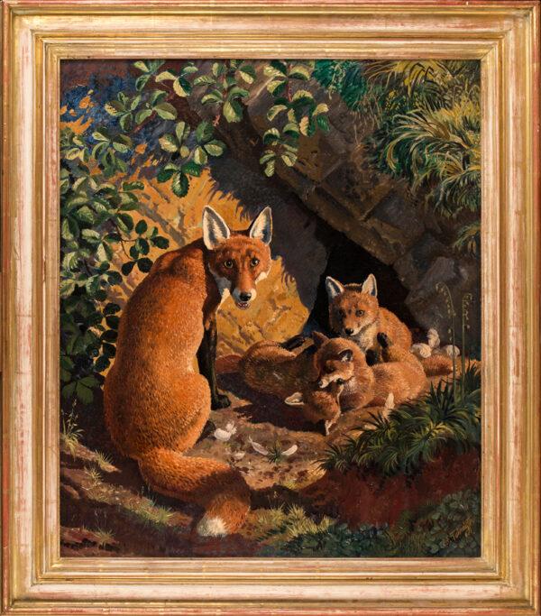 TUNNICLIFFE Charles Frederick O.B.E. R.A. R.E. (1901-1979) - 'The Fox' Earth (or Lair).