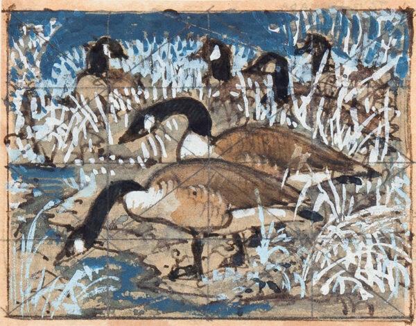 TUNNICLIFFE Charles Frederick O.B.E. R.A. R.E. (1901-1979) - Canada Geese.