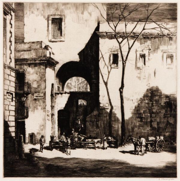 TUSHINGHAM Sidney (1884-1968) - 'Arco Santa Teresa, Palermo'.