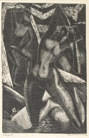 UNDERWOOD Leon (1890-1975) - 'Strife'.