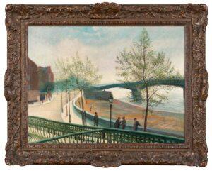 UNDERWOOD Leon (1890-1975) - Battersea Bridge from Cheyne Walk.