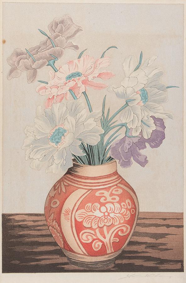 URISHIBARA Yoshijiro (1888-1953) - Peonies.