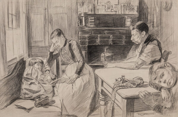 URQUHART William J (1870-1905) - Day of Rest.