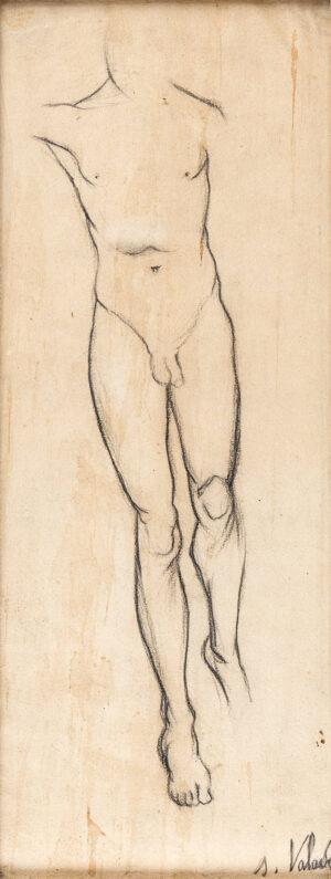 VALADON Suzanne (1865-1938) - 'Etude pour Adam et Eve (nue d'apres Andre (?Atters) / 1910.