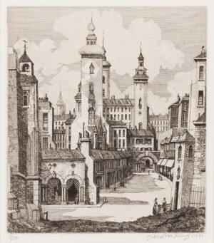 VAN SCHNELL Gabriel (Dutch fl.1920-1940) - 'El-Bourrah-Sid'; an architectural capriccio.
