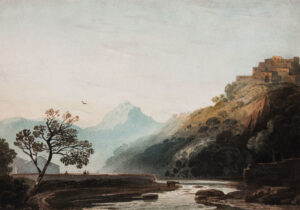 VARLEY John O.W.S (1778-1842) - Capriccio landscape – related to a Portuguese subject.