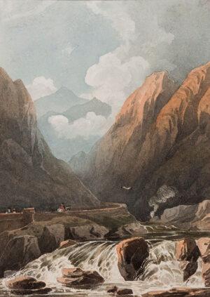 VARLEY John O.W.S. (1778-1842) - 'Pont Aberglaslyn / N.