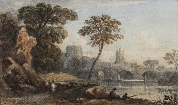 VARLEY John O.W.S. (1778-1842) - 'Totnes, Devonshire'.