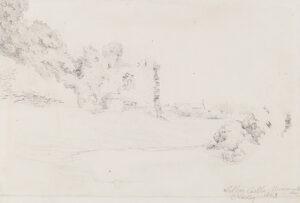 VARLEY Cornelius F.R.S.A. (1781-1873) - 'Wilton Castle, Monmouthshire'.