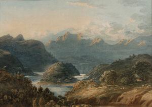 VARLEY John O.W.S. (1778-1842) - 'Welsh Mountains'.