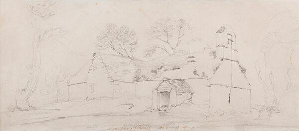 VARLEY Cornelius (1781-1873) - 'Llanberis Church'.