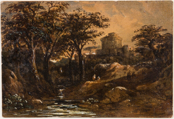 VARLEY John O.W.S. (1778-1842) - Twighlit valley.