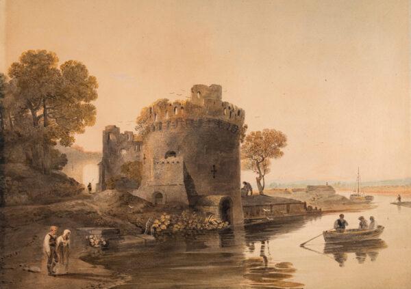 VARLEY John O.W.S. (1778-1842) - 'Ferry House, York'.
