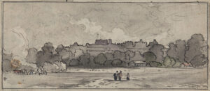 VARLEY John O.W.S. (1778-1842) - Windsor Castle from the meadows.