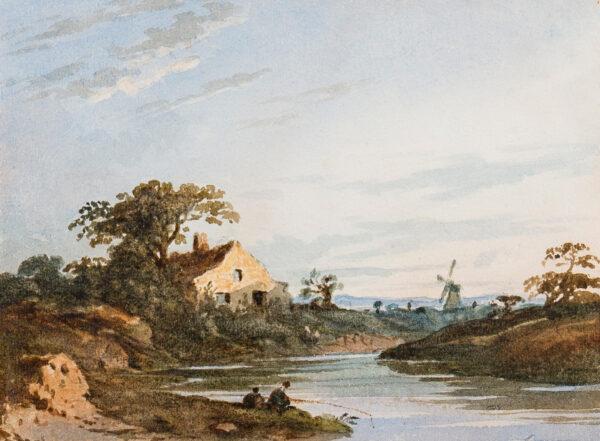 VARLEY John O.W.S (1778-1842) - Capriccio landscape.