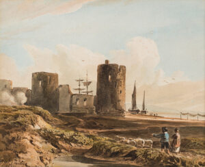 VARLEY John R.W.S. (1778-1842) - A Welsh Castle, once thought to be Rhuddlan.