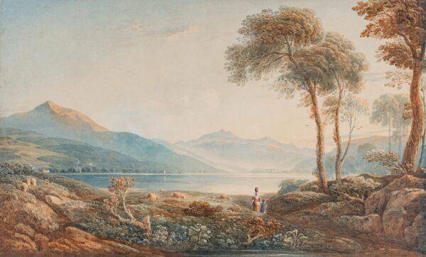VARLEY John O.W.S. (1778-1842) - Bala Lake and Cader Idris.