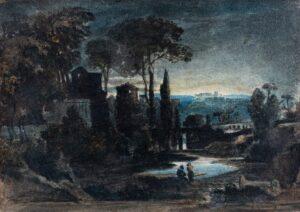 VARLEY John O.W.S. (1778-1842) - Moonlit capriccio.