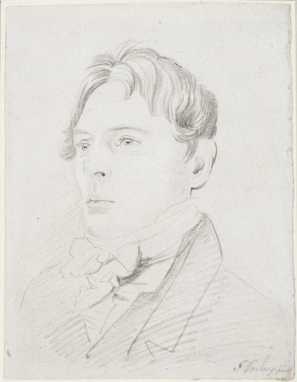 VARLEY John OWS (1778-1842) - Portrait of a Man Pencil.