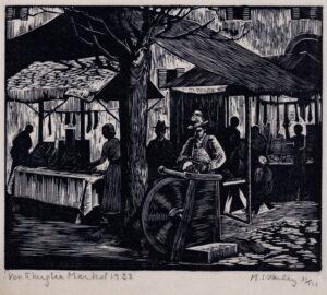 VARLEY M I (fl.1930s) - 'Ventimiglia Market'.