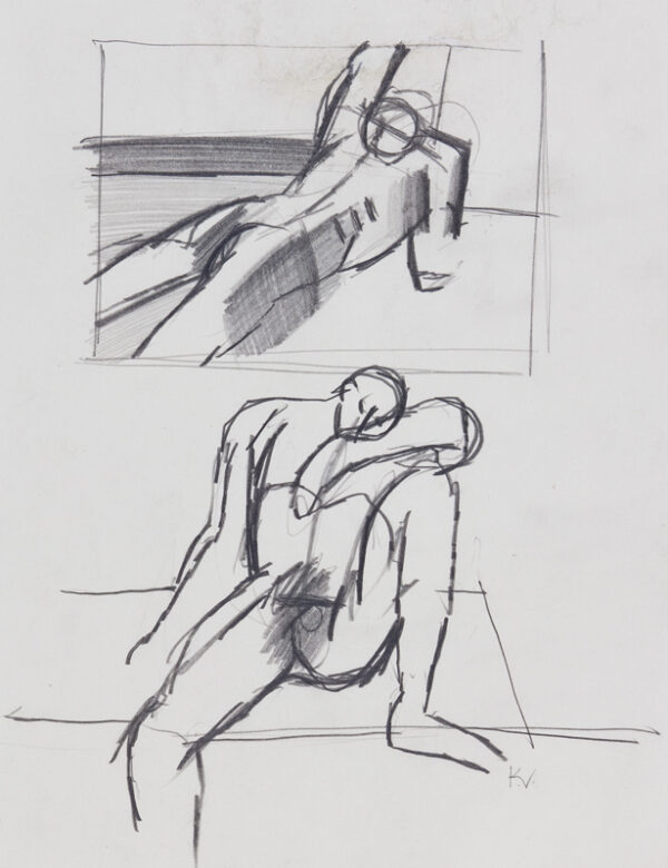 VAUGHAN Keith (1912-1977) - Figure studies.