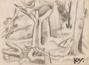 VAUGHAN Keith (1912-1977) - 'Felled Trees'.