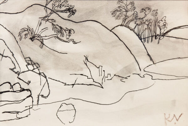 VAUGHAN Keith (1912-1977) - Landscape, Berwickshire.