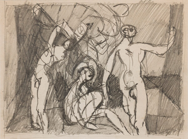 VAUGHAN Keith (1912-1977) - 'Three naked figures exercising'.