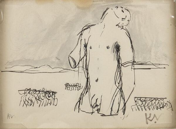 VAUGHAN Keith (1912-1977) - Mutilated Figure.